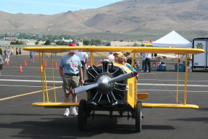 EAA403 Ground Bound gives rides at the Carson City open house