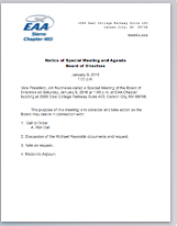 Special Meeting Jan. 9 2016 1p.m. Agenda
