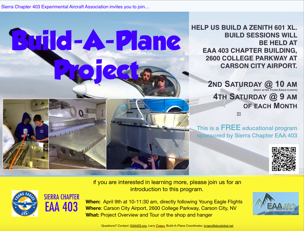 Register for the EAA 403 Build a Plane Project Introduction